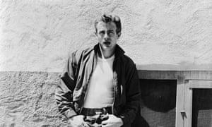 James Dean, who died in a car crash aged 24.