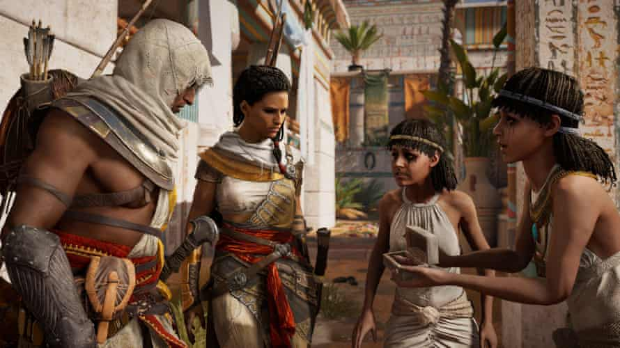 A scene from 2017's Assassin's Creed Origins, set in ancient Egypt.