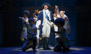 Lin-Manuel Miranda and the cast of Hamilton.