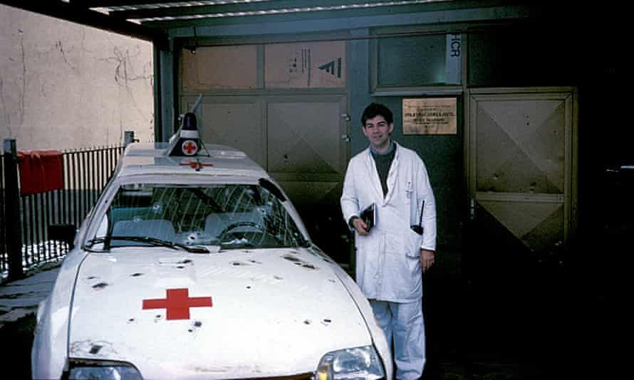 Nott on an early mission in Sarajevo, 1994.