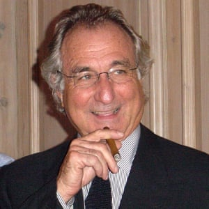 Bernard Madoff at the Christmas party at the London offices of Madoff Securities International in 2003.