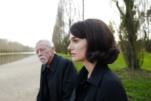 Hurt in his final role as The Priest with Natalie Portman as Jackie Kennedy in the 2016 film Jackie, which was released in the US the month before his death