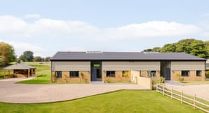 Exterior shot of five-bed barn conversion