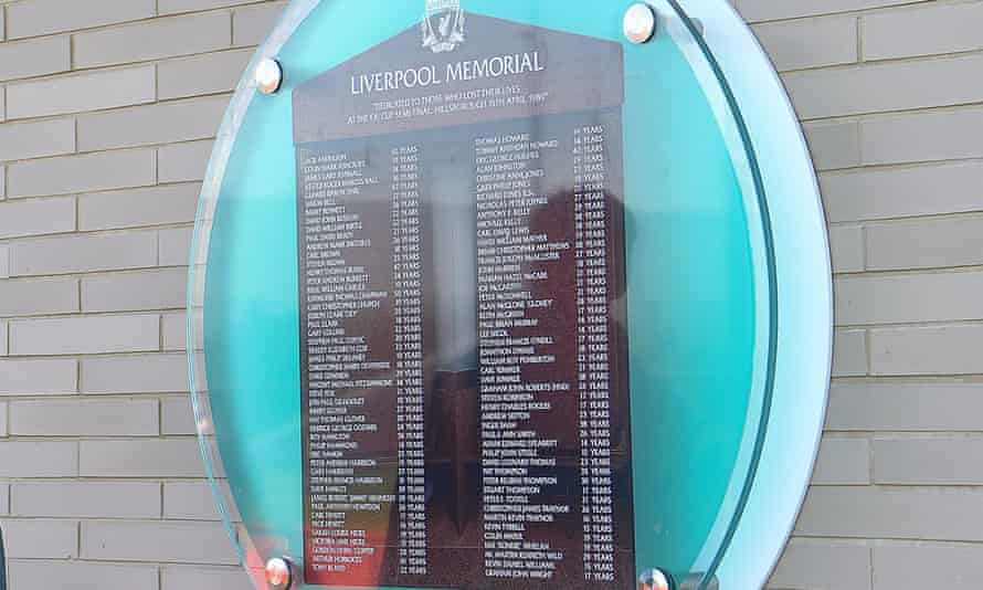 The Hillsborough plaque commemorating the dead at Liverpool FC's training ground.