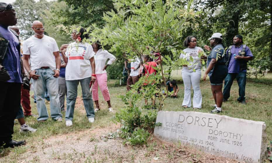 The grave site of George and Dorothy Dorsey, who were killed in the Moore's Ford Bridge lynching