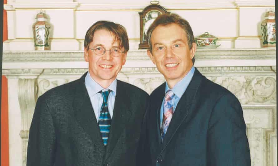Jeremy Heywood with Tony Blair in 2000.