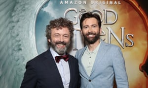 Michael Sheen and David Tennant, who star in the Amazon Prime series Good Omens.