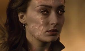 Sophie Turner with her 'Sansa Stark glower' in X-Men: Dark Phoenix.