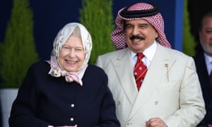 The Queen and King Hamad at the Royal Windsor Horse Show on Friday.