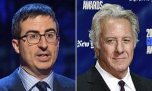 John Oliver, left, Dustin Hoffman