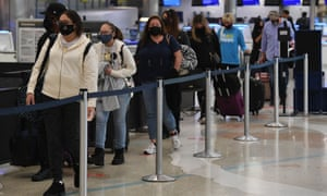 Airline passengers are seen at Fort Lauderdale Hollywood International Airport.