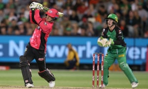Nic Maddinson batting for the Sydney Sixers. In the early years of Big Bash, teams that batted first consistently won more matches, but there has been a gradual shift.