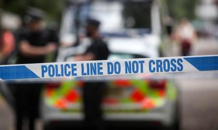 Police crime scene tape UK
