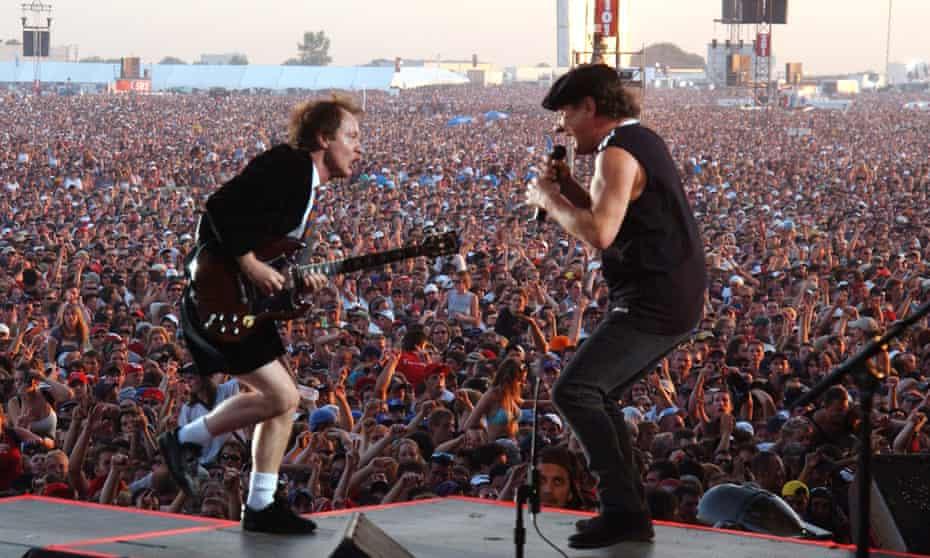 Angus Young and Brian Johnson