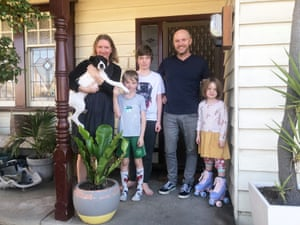 Fionnuala Twomey's family had to cancel a school holiday trip after West Footscray was ordered to lock down. Those on the other side of the street in Footscray have been spared.