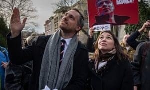 Zdeněk Hřib at the renaming of a Prague square after the slain Russian opposition politician Boris Nemtsov