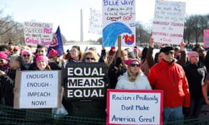 People participate in the second annual Women's March in Washington, U.S. January 20, 2018. REUTERS/Aaron Bernstein