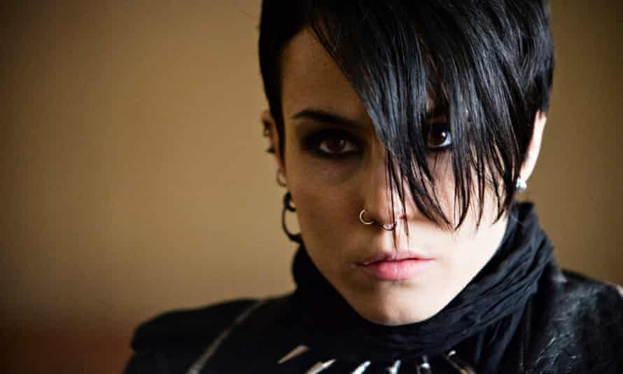 Noomi Rapace as Lisbeth Salander in the film adaptation of The Girl with the Dragon Tattoo.