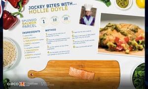 Jockey Bites with Hollie Doyle, a recipe for Salmon Parcel.