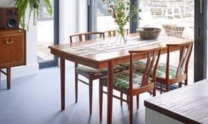 A 50-year-old dining table and chairs from Bagner's aunt.