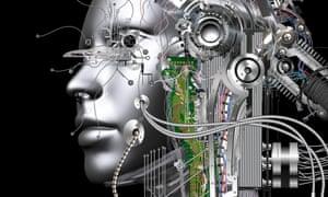 Digital visualisation of a cyborg.