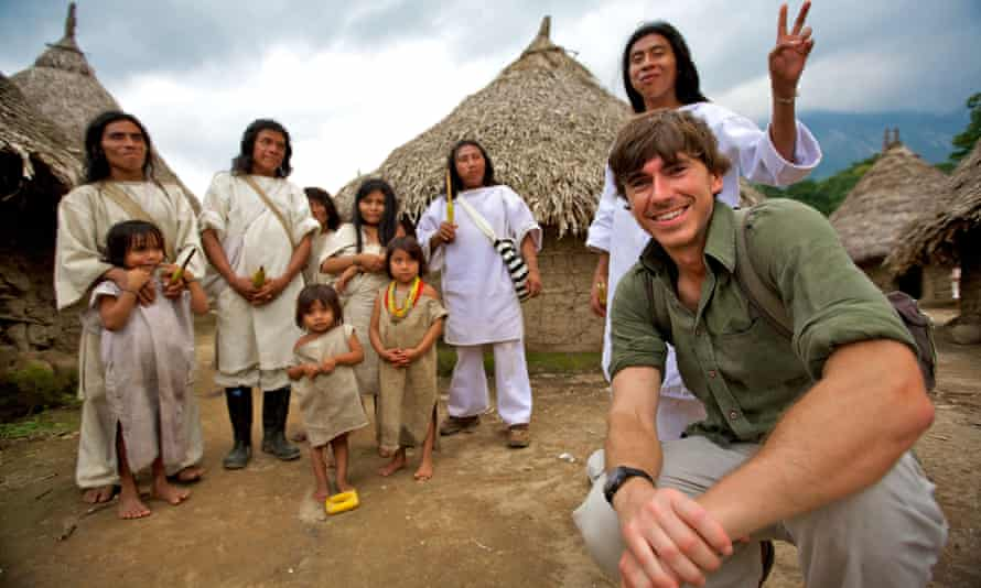 Simon Reeve in Colombia in Incredible Journeys.