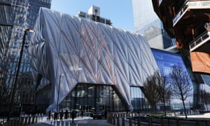 The movable Shed arts centre at Hudson Yards in New York.