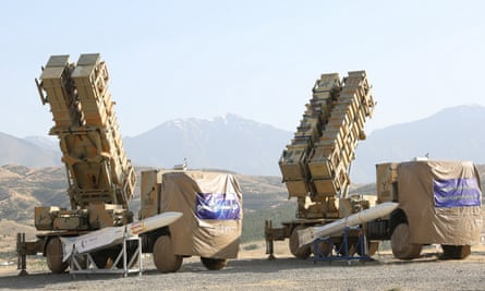 Missile batteries in Iran