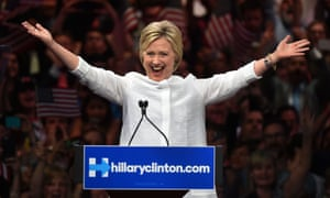 Hillary Clinton accepts the nomination as the Democratic presidential candidate in June