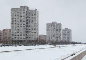 Novosmolenskaya Housing complex, St Petersburg, erected in 1986.