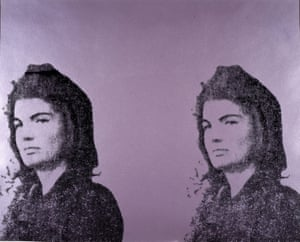 Jacqueline Kennedy II (from the portfolio Eleven Pop Artists, Vol II), 1965, by Andy Warhol, from Andy Warhol and Eduardo Paolozzi: I Want to Be a Machine, at the Scottish National Gallery of Modern Art.