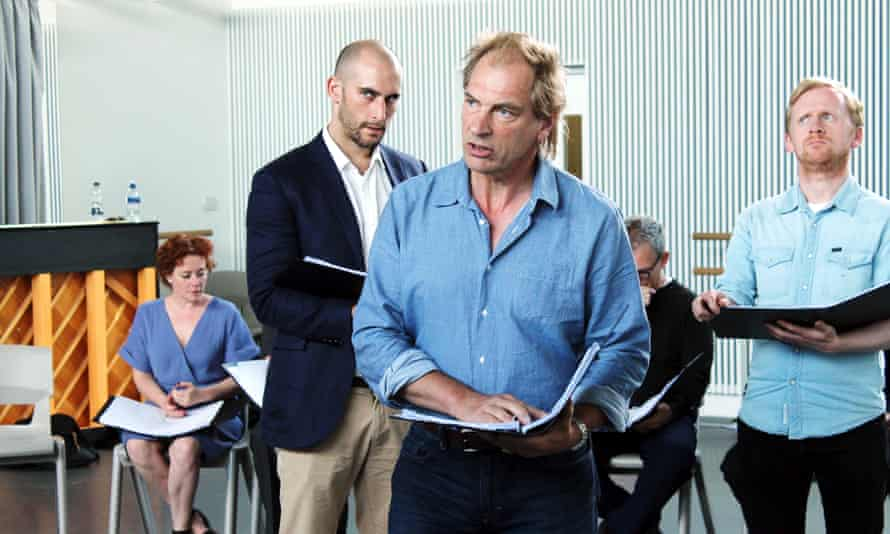 Julian Sands as Tony Blair in the rehearsed reading of David Hare's Stuff Happens