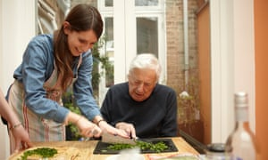 Michael Freedland learns to cook at the age of 78 years old. Here with granddaughter Beth