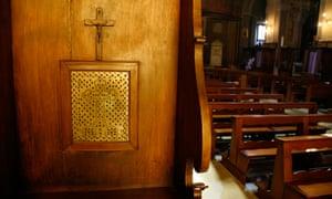A confession box in a church in Rome