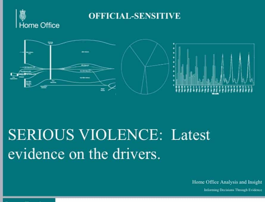 The cover slide from the leaked Home Office report.
