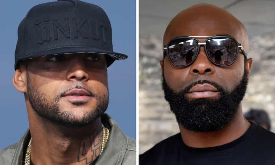 French rap stars Booba (left) and Kaaris