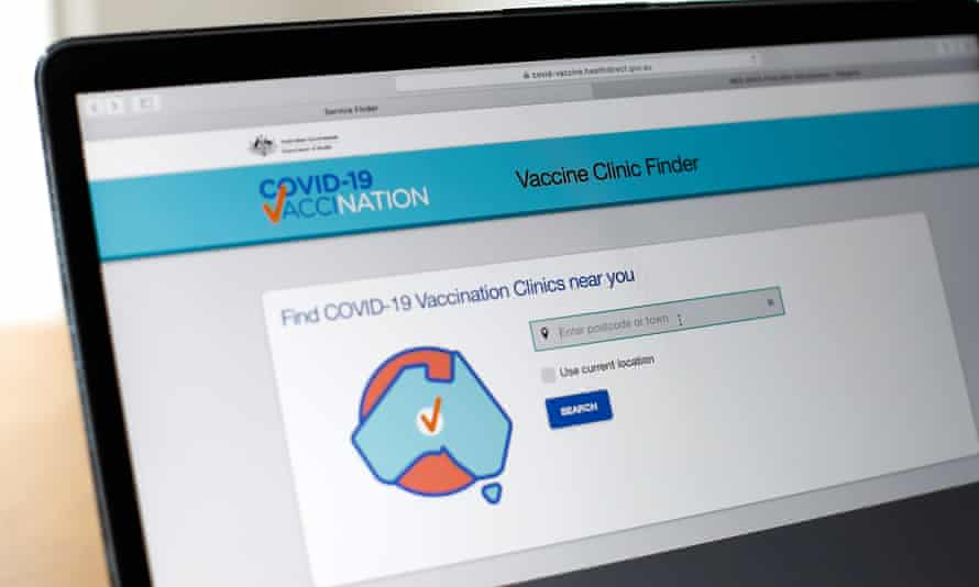 The Australian government Covid Vaccine Clinic Finder website