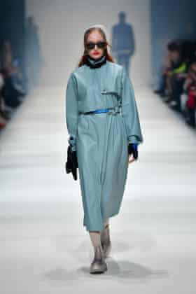 Jelly shoes were on display during Neonyt's show at Berlin fashion week in January 2020.