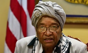 Liberia's former president, Ellen Johnson Sirleaf, who has been awarded the Ibrahim Prize for Achievement in African Leadership.