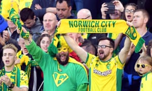 There's a party atmosphere inside Carrow Road.