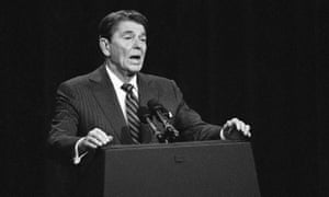 President Ronald Reagan during a debate in 1984