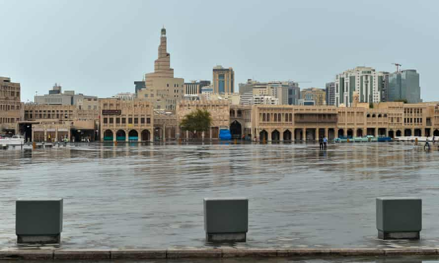 The empty Souq Waqif market, Doha, Qatar.