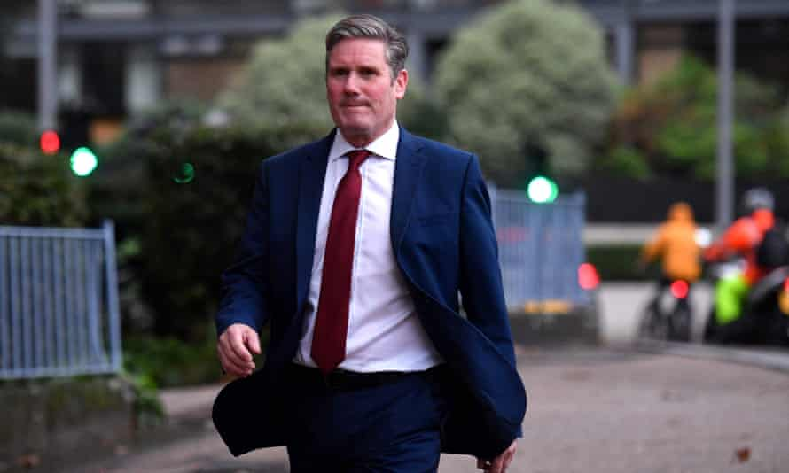 Keir Starmer leaves the Garden Museum in south London last month.