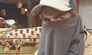 Still from a 2003 ITV interview with a man purporting to be Banksy