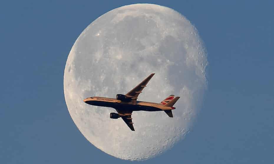 BA plane over London