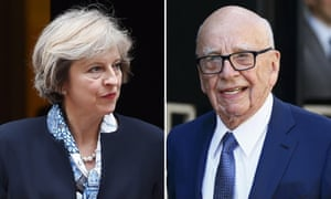 Theresa May and Rupert Murdoch: met in New York last week.