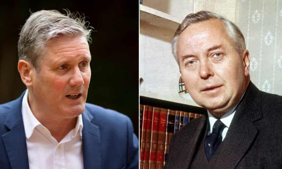 composite of Keir Starmer and Harold Wilson