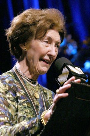 Shirley Hazzard speaking at the National Book awards in 2003