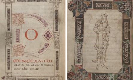 Pages from Becket's book of psalms.
