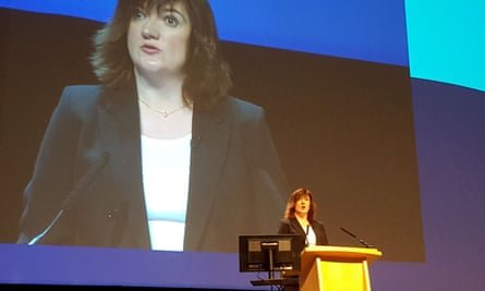 Nicky Morgan addresses the National Association of Head Teachers (NAHT) annual conference in Birmingham